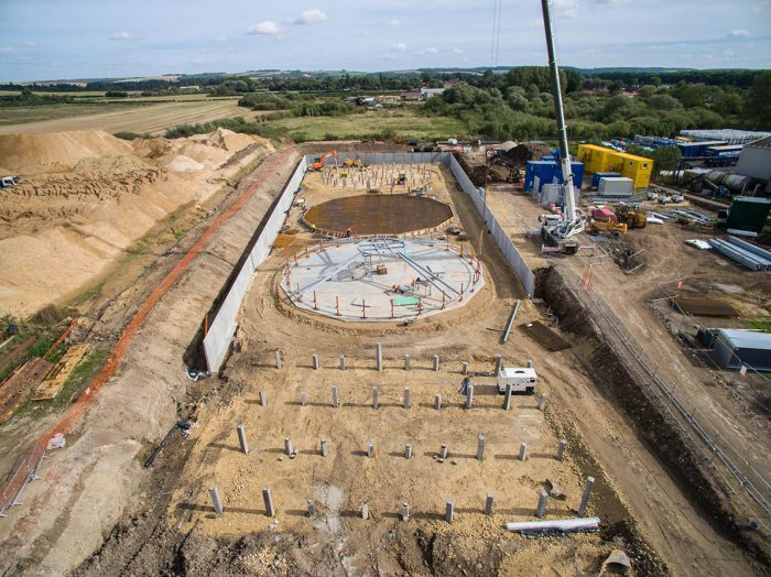 CLS: CIVIL ENGINEERING - DEMOLITION - GROUNDWORKS - NATIONWIDE - LINCOLNSHIRE BASED - PILED TANK FOUNDATION